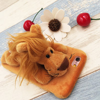 Cute Lion Dolls Case for iPhone 5s 6 6s Plus Gift 09