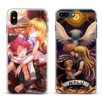 Fairy Tail Natsu Logo Anime Coque Phone Case Cover Shell For Apple iPhone X 8Plus 8 7Plus 7 6sPlus 6s 6Plus 6 5 5S SE 4s 4