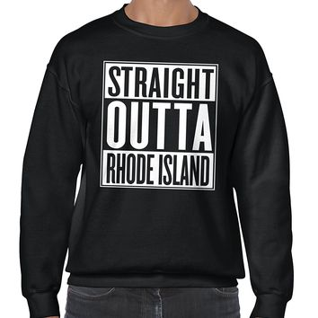 Straight Outta Rhode Island State City Movie T Shirt Gift Idea Sweatshirt