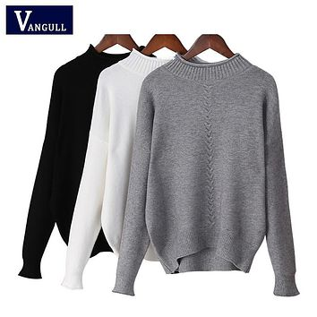 Turtleneck knitting sweater 2017 New women Casual cotton knitted winter sweater pullover female 2017 Autumn winter jumper