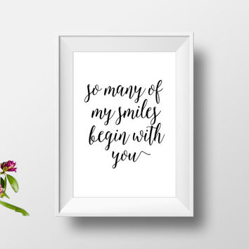 Wedding Gifts For 4 Years : ... day, gift for wedding, love gifts for him, anniversary print