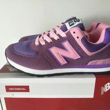 QIYIF new balance 574 women sport casual multicolor n words sneakers running shoes  1