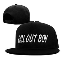 Okstar Fall Out Boy Embroidery Hat (Black Hat)