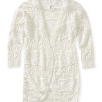 Lace Cocoon Cardigan - Aeropostale