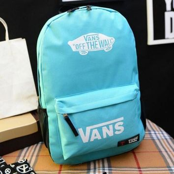 ONETOW VANS Canvas double shoulder backpack college students in the wind of the school children's schoolbag youth fashion bag