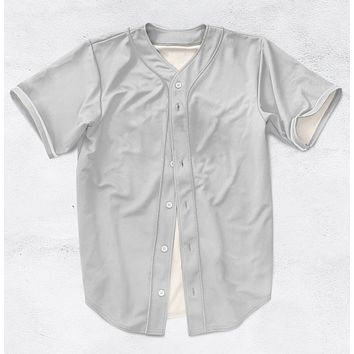 Any Color Any Printing Real US American Size 3D Sublimation Print Custom your own design Button up baseball jersey plus size