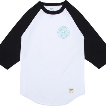 Diamond Conflict Free Raglan 3/4 Sleeve XXL White/Black