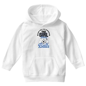 Some Girls Love Diamonds This Girl Loves Balls Youth Hoodie