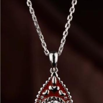 Ruby Red Swarovski Crystal Necklace