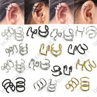 Online Shop Illusion Captive Bead Rings, Fake Cartilage Clip-On Ring ,Helix Earrings, Non Pierced Clip On Closure Ring Sold as pair Aliexpress Mobile