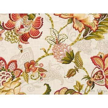 P Kaufmann Adelaide Blend Tigerlily Floral Fabric