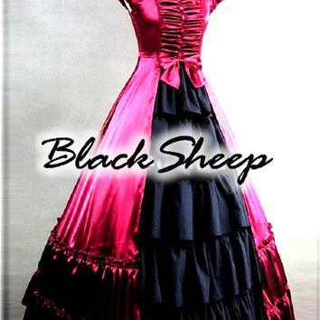 Black Sheep Bride Gothic Steampunk Alternative Formal Prom Gown Wedding Dress