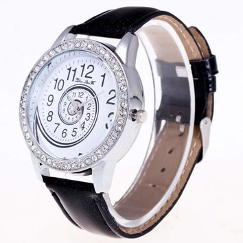 Women Quartz Watch Rhinestone Vortex Pattern (6 Colors)