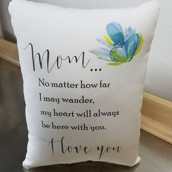 Pillow gift for mom sentimental throw pillow mother birthday gift