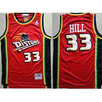 1998-99 Mitchell & Ness 33 Grant Hill Swingman Jersey red