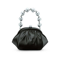 Tiffany & Co. - Bracelet bag in onyx satin. More colors available.