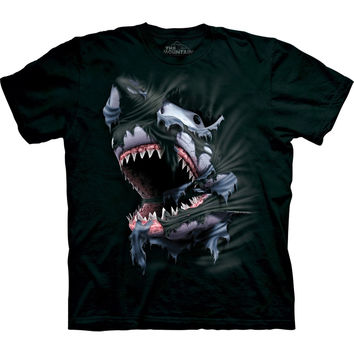 Shark Biting Through T-Shirt