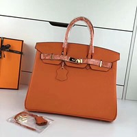 "Hermes Vintage ""Rouge H"" Ostrich ""Kelly Sellier 28"" Bag"