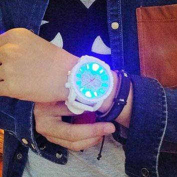 casual sports light up silicone strap watch gift box 465  number 1