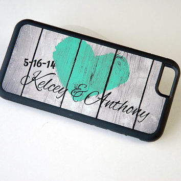 Personalized Rustic Wood Phone Case, Couple Phone Case, iPhone 4 Case, Samsung Galaxy S4 Case, iPhone 4s Case, iPhone 6 Silicone Case Custom