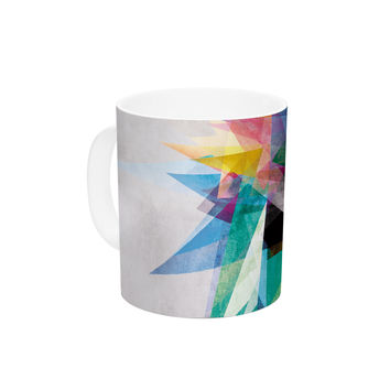 "Mareike Boehmer ""Colorful"" Rainbow Abstract Ceramic Coffee Mug"