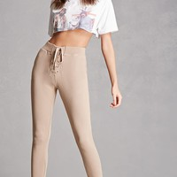 Lace-Up French Terry Sweatpants