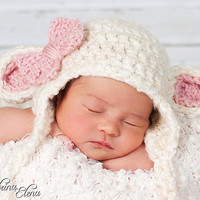 Baby Lamb Hat Made to order03 months by WillowsGarden on Etsy