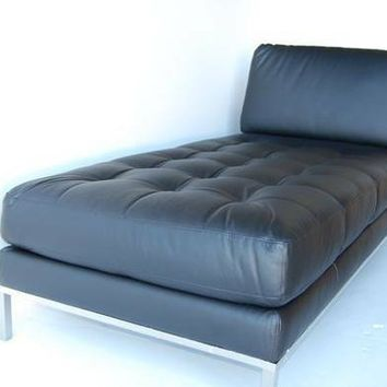Natuzzi Italiia Leather Chaise Lounge
