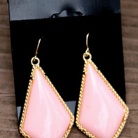Designer Inspired Diamond Earrings - Pink