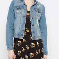 Destroyed Medium Blue Jean Jacket | Jean Jackets | rue21
