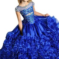 BFB New Design Royalblue Wedding Flower Girl Dress Formal Party Dress