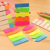Fresh Rainbow Color Memo Pad Sticky Notes Memo Notebook Stationery Papelaria Escolar School Supplies