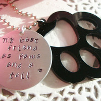My Best Friend With Big Acrylic Paw Keychain 4 Colors Paw To Choose From Made To Order