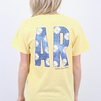 Arkansas Denim + Daisies Short Sleeve Tee {Butter}