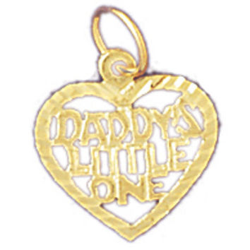 14K GOLD SAYING CHARM - DADDY'S LITTLE ONE #9890