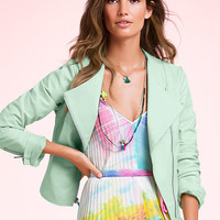 Soft Leather Moto Jacket - Victoria's Secret