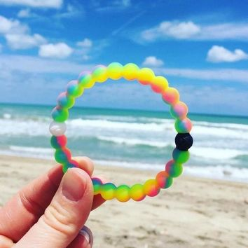 8mm Candy colors Lokai Silicone Beads Bracelet for Men Women Trendy DIY Fashion bracelet Strand Bandage Charm Bracelets Bangles.