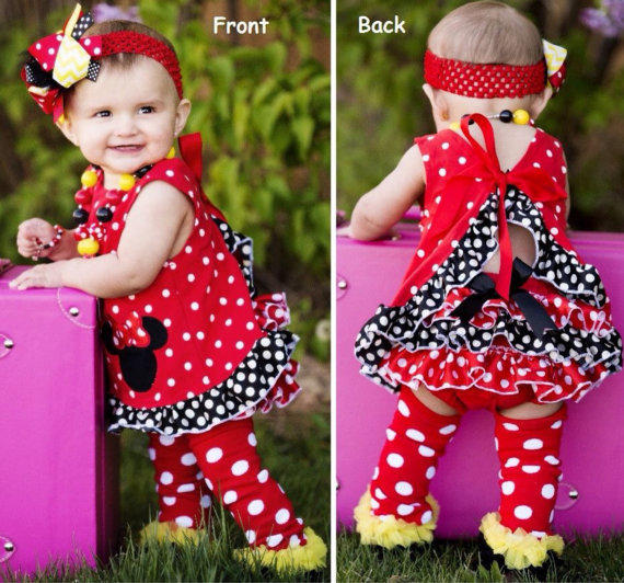 Minnie Mouse Swing Top Outfit, 1St From -9991