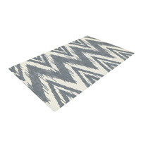 "Heidi Jennings ""Tribal Chevron Gray"" Woven Area Rug"