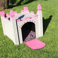 Custom dog houses at a affordable price- you want it will make it-- for a limited time get a free fleece pillow for your pet