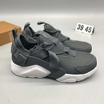 Nike Air Huarache Run Ultar Br Fashion Casual Running Sneakers Running Sports Shoes Grey G-CSXY
