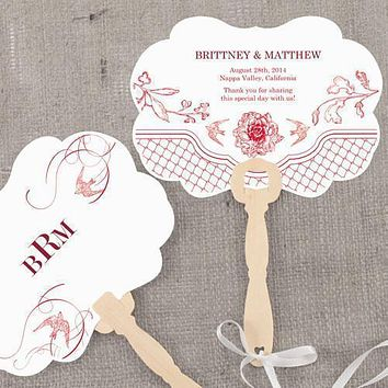 French Whimsy Personalized Hand Fan Vintage Pink (Pack of 1)