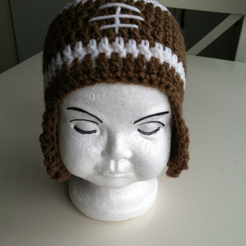 baby football hat, crochet baby hat, football baby gift