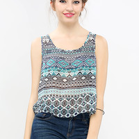 Multy Pattern Sheer Top