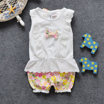 Summer Style Baby Girls Clothing Set