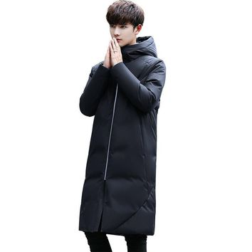 2017 Winter New Man Thickening Male Korean Self-cultivation Student Clothes Loose Coat Tide 90% White Duck Down Jacket
