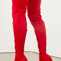 Celise Over The Knee Boot - Red