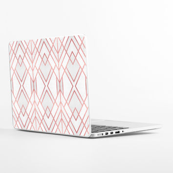 Rose Gold Geo Laptop Skin