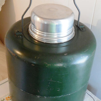 Green Thermos Jug with Stoneware Lining