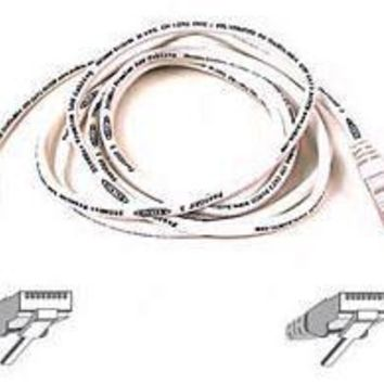 Belkin Components 7ft Cat6 Snagless Patch Cable, Utp, White Pvc Jacket, 23awg, 50 Micron, Gold Pla